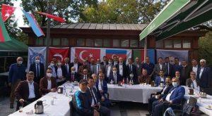 TÜRK DÜNYASI STK BAŞKANLARINDAN KARABAĞ AZERBAYCAN VATAN TOPRAĞIDIR DESTEK BASIN AÇIKLAMASI